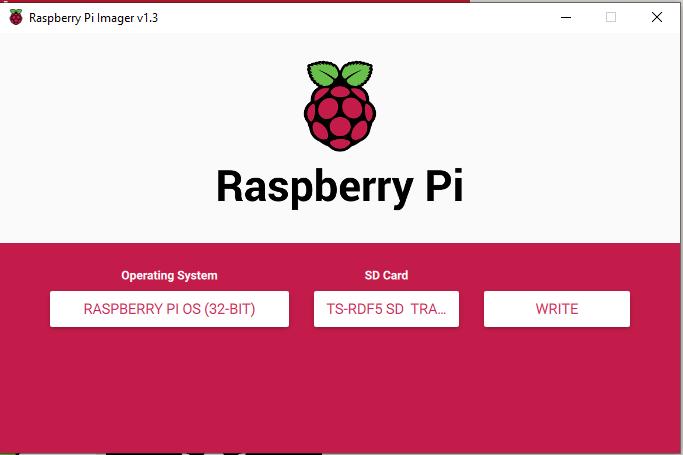Write Raspberry Pi OS Image to SD Card