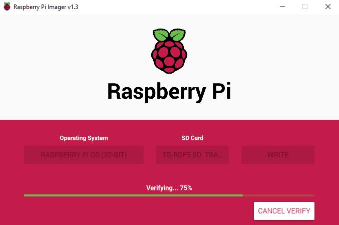 Verify Raspberry Pi OS Image to SD Card