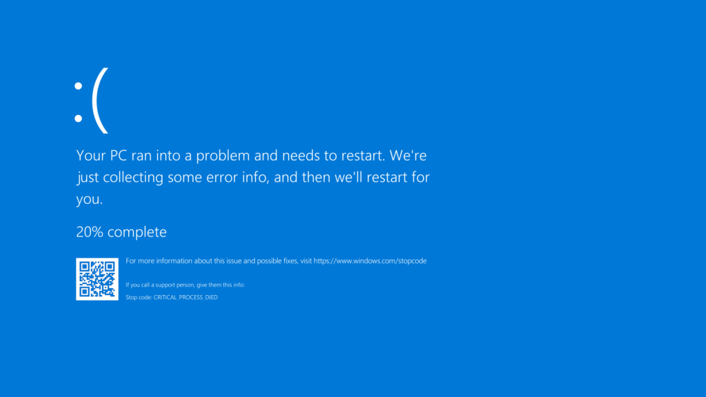 Bluescreen of Death (BSOD)