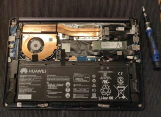 Huawei MateBook D 14 Disassembly